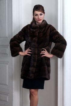 Pelliccia Visone Demi Buff Mink Fur Coat Nerzpelzmantel Pelisse Fourrure Vison | eBay