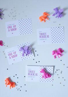 free printable | unicorn class valentines