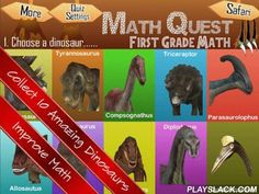Math Quest Quiz First Grade 1  Android App - playslack.com , - Collect 10 amazing interactive dinosaurs and improve your Math. - 300 high quality Primary 1 | Grade 1| First Grade Math questions compiled from renowned schools in Singapore. - 3 different theme-based quizzes to encourage learning. - Intuitive quizzes with drag and drop to engage learner for deeper learning - Customize quiz settings to cater to different learner's abilities. -10 amazing interactive dinosaurs to be collected…