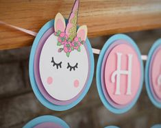 Unicorn Banner - Unicorn Birthday - Unicorn Party - Unicorn Theme - Unicorn Smash Cake - Unicorn Decor - ONE Highchair