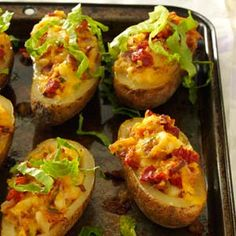 BLT Twice-Baked Potatoes Recipe from Taste of Home -- shared by Mary Shenk of DeKalb, Illinois