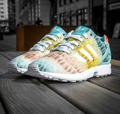 345234728af8d ADIDAS ZX Flux The Farm Collection White Clear Green B25485  199.00
