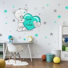 Nálepky na stenu - hviezdičky a oblaky | INSPIO Home Decor, Decoration Home, Room Decor, Home Interior Design, Home Decoration, Interior Design