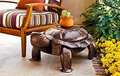 Turtle side table!! I need this for my massage studio!