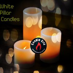Unscented White Pillar Candle  http://goo.gl/vevJ83