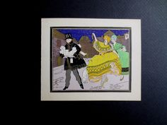 Unused Art Deco Pochoir Xmas Greeting Card from France Presents for His Sweetie | eBay