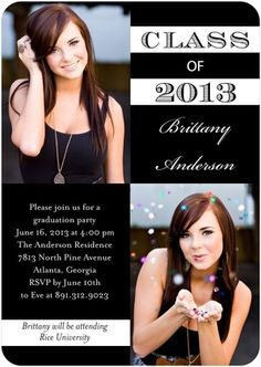 Graduation Invitations Perfectly Preppy - Front : Black (picture ideas for graduation party) Graduation Party Planning, Graduation Pictures, College Graduation, Senior Pictures, Senior Pics, Senior Pranks, Grad Pics, Graduation Cards, Senior Invitations