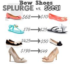 Bow Shoes: Splurge Vs. Steal!