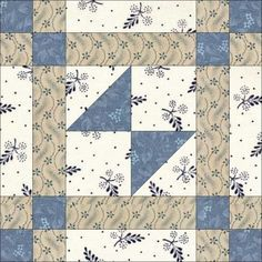 June Odds and Ends is one of Nancy Cabot's blocks, published in the Chicago Tribune in Easy Quilt Patterns, Patchwork Patterns, Pattern Blocks, Blue Quilts, Scrappy Quilts, Quilting Projects, Quilting Designs, Civil War Quilts, Sampler Quilts