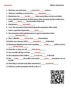 Video Worksheet Movie Guide For Bill Nye Momentum Qr Code Link