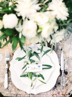 Tuscan wedding table decor: http://www.stylemepretty.com/destination-weddings/italy-weddings/2015/12/31/intimate-organic-tuscan-villa-elopement/   Photography: The Cab Look Photo Lab - http://www.thecablookfotolab.com/