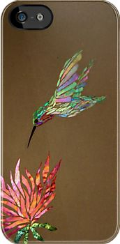 'Hummingbird iPhone Case' iPhone Case by Leslie Guinan Stained Glass Birds, Stained Glass Designs, Stained Glass Projects, Mosaic Designs, Stained Glass Patterns, Mosaic Patterns, Mosaic Animals, Mosaic Birds, Mosaic Flowers