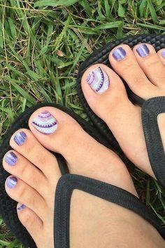 Http://Glaminati.Com/Toe-Nail-Designs-Beach/ summer toe nails, beach toe . Beach Toe Nails, Purple Toe Nails, Purple Toes, Pretty Toe Nails, Summer Toe Nails, Cute Toe Nails, Pretty Toes, Purple Lace, Pretty Beach