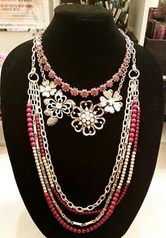 #pdcombo Premier Designs Jewelry Work It and Lavish Blooms #premierdesigns Find me on Facebook Jewelry Lady Jana Geers