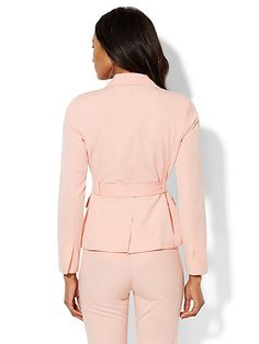 7th Avenue Design Studio Belted Jacket - Modern Fit - SuperStretch - New York & Company