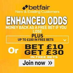 Betfair Promo Code for a Champions League football bet on Leicester 6/1 to beat Copenhagen. Choose a £30 free Champions League football bet or enhanced odds Leicester 6/1 to beat Copenhagen with money back if you lose and a free £100 bet bundle.