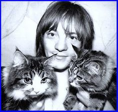 "Steve Marriott"" of the 1960's Rock band Small Faces... with cats"