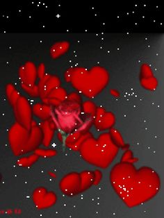 the roses and heart animation gif Gif Animated Images, Animated Heart, Love Heart Images, Love You Images, Heart Wallpaper, Love Wallpaper, Trendy Wallpaper, Wallpaper Desktop, Disney Wallpaper