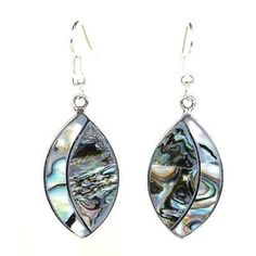 Alpaca Silver Abalone Ellipse Earrings Handmade and Fair Trade. These alpaca silver earrings from Mexico feature a inch inlaid abalone ellipse design, hung on hypoallergenic hooks. Abalone Jewelry, Stone Jewelry, Charm Jewelry, Boho Jewelry, Jewelry Ideas, Jewelry Bracelets, Jewelry Logo, Shell Jewelry, Fantasy Jewelry