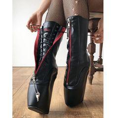 Thigh High Boots, High Heel Boots, Heeled Boots, Wedge Boots, Ballet Boots, Ballet Heels, Botas Sexy, Sexy Boots, Sexy Heels