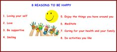 8 reasons for be happy