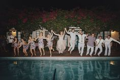 Love the dramatic lighting on this/ jump in pool action shot (though I may want to change out of my dress!)