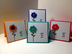 Simple gift cards with Copics