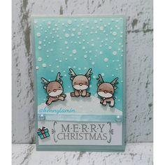 Christmas card in tosca #mamaelephant #simonsaysstamp #distressink #reindeer #odopbubroto