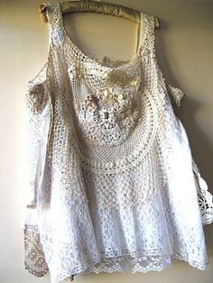 If I was a rich girl...Vintage Lace White Gypsy Top Gold Beaded by AllThingsPretty, $245.00  ooh