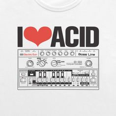 I Love Acid - Roland TB-303 illustration