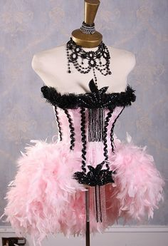 Flamingo Costume or Paris Burlesque Costume.. LOVE