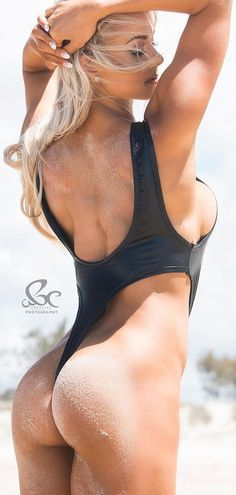 GORGEOUS SIDEBOOB & PERFECT SANDY BEACH BUTT of sexy #Fitness model : Health, Exercise & #Fitspiration - the best #Inspirational & #Motivational Pins by: http://cagecult.com/mma