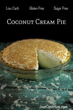sugar free low carb coconut cream pie recipe