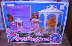 #1491 RARE Vintage Flower Princess Creata Carry & Play Gazebo Doll/Clothes Case #Creata