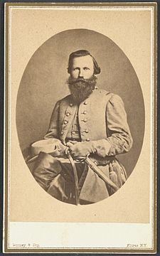 "James Ewell Brown ""Jeb"" Stuart (February 6, 1833 – May 12, 1864) was a United States Army officer from the U.S. state of Virginia who later became a Confederate States Army general during the American Civil War. He was known to his friends as ""Jeb"", from the initials of his given names. Stuart was a cavalry commander known for his mastery of reconnaissance and the use of cavalry in support of offensive operations."