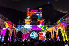 #fifa_world_cup #fifa_2014 #colorful_night. Wonderful # Rio de Janeiro's famous #Maracanã stadium