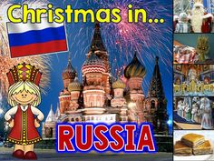Christmas Around the World PowerPoint: Russia by Sheila Melton Holiday Themes, Christmas Themes, Christmas Holidays, Christmas Markets, Holidays Around The World, Around The Worlds, Christmas Language Arts, Australia Crafts, New Years Tree
