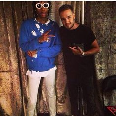 Wiz Khalifa with Liam last night backstage