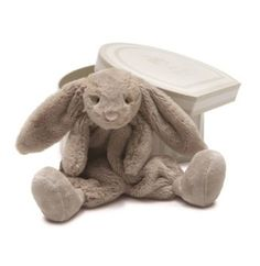"""Amazon.com: Boubou Beige Bunny Soother 9"""" by Jellycat: Baby"""