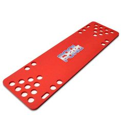 The pool pong foam table is also available in red.