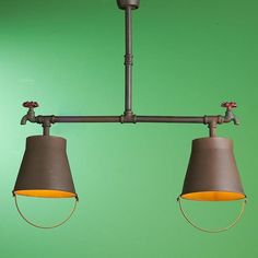 pail lamps with plumbing pipes