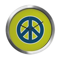 Pop-art Peace Modern Wall Clock