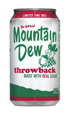 Willy the Hillbilly is back! Mountain Dew Throwback, 12 oz Cans (Pack of 12 Cans) Mountain Dew Throwback by Pepsi-Cola Mountain Dew, Fun Drinks, Beverages, Carbonated Soft Drinks, Best Soda, Pepsi Cola, Coke, Pop Cans, Soda Bottles