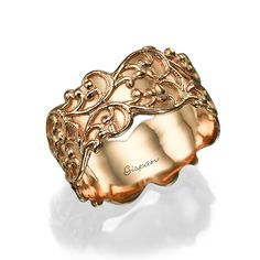 Forget about whats trending, let us wrap you in elegance. This vintage ring is covered in 14k rose gold. This ring is particularly fashionable, because it is handmade by a dedicated designer. How many chances, are you going to have to score a timeless piece like this? This beautiful ring will take your breath away. The ring features natural gold, Unique texture in royal look. This is a classic piece that you dont want to miss.  Measurements; Ring sizes available: All sizes. Width at top of…