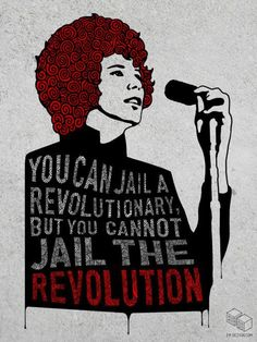 You can jail a revolutionary, but you cannot jail the revolution. Women In History, Black History, Unity In Diversity, Along The Way, Oppression, Change The World, Revolutionaries, Equality, Let It Be