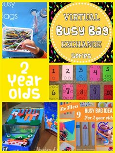 Busy bags are great for keeping kids busy while traveling or waiting!