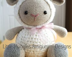 Amigurumi Vaca : Amigurumi pattern cuddles the sheep cuddling amigurumi and