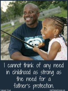 """I cannot think of any need in childhood as strong as the need for a father's protection."" Sigmund Freud #dad #quote"