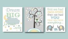 Baby Boy Nursery Quotes Childrens Art Print Kids by artbynataera