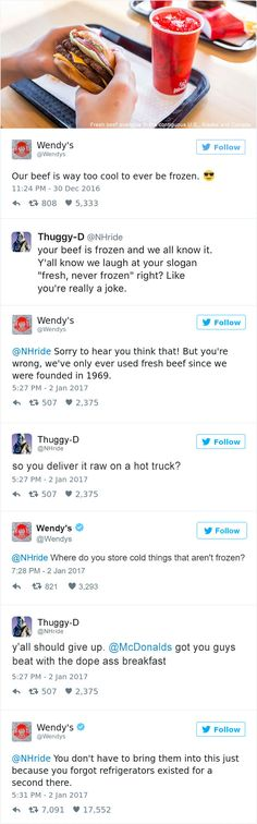 Wendys Is Roasting People On Twitter And Its Hilarious - Ryan reynolds politely responds to fans dirty tweets and its just hilarious